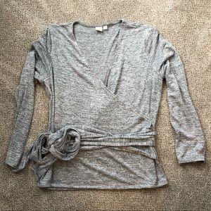 Gap Softspun knit gray wrap shirt NWOT XL